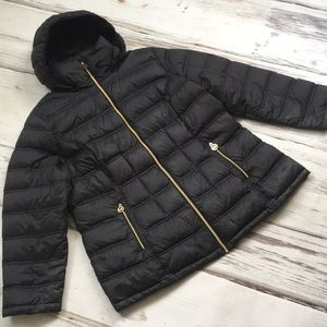 Michael Kors Coat Down Puffer Winter Black Zip 1X